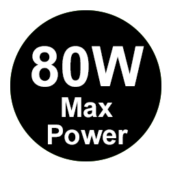 80W Max Power