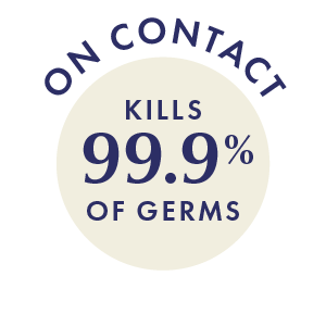 Kills 99% of germs on contact