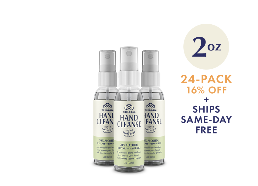 Hand Cleanse Terpenes+™ Spray · 2oz - 24-Pack - Trilogía