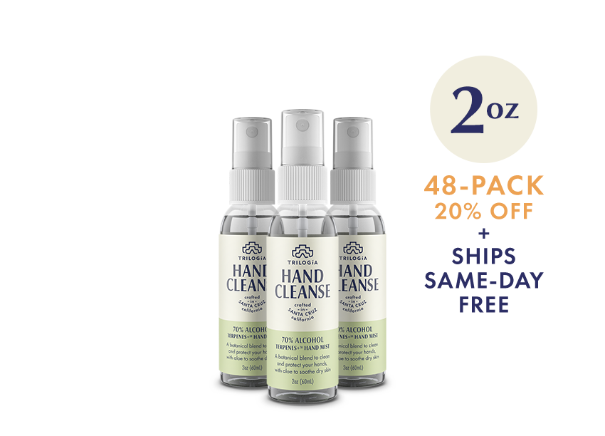 Hand Cleanse Terpenes+™ Spray · 2oz - 48-Pack - Trilogía