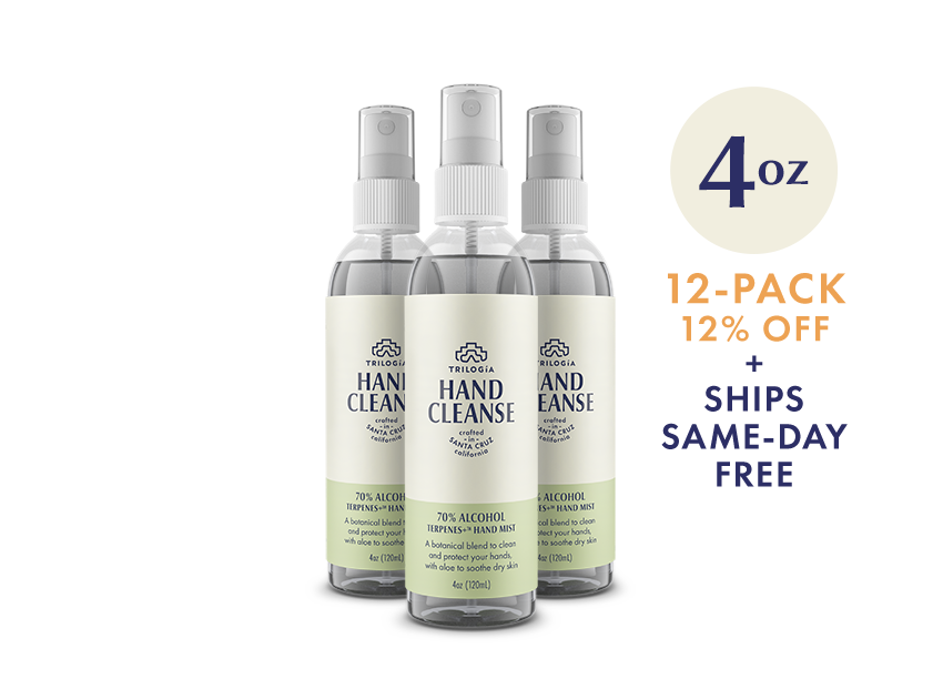 Hand Cleanse Terpenes+™ Spray · 4oz - 12-Pack - Trilogía