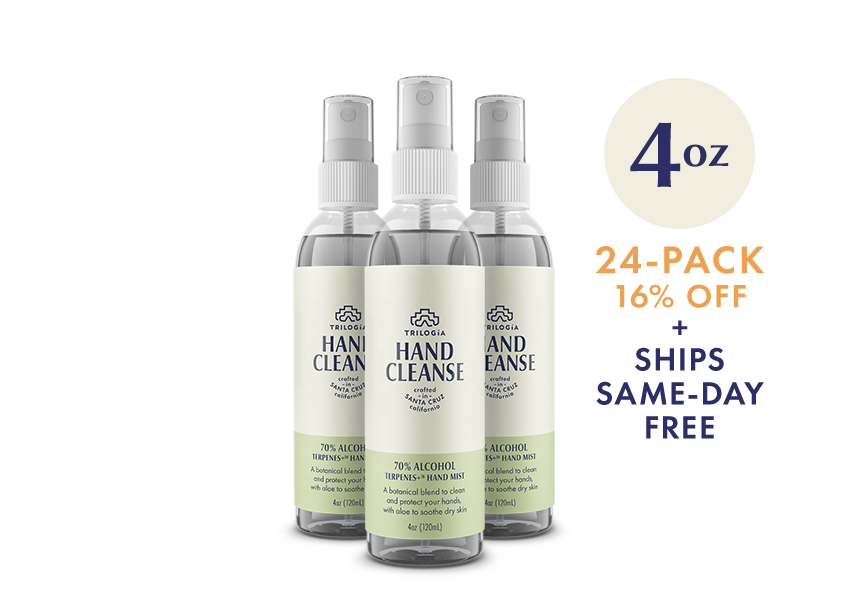 Hand Cleanse Terpenes+™ Spray · 4oz - 24-Pack - Trilogía
