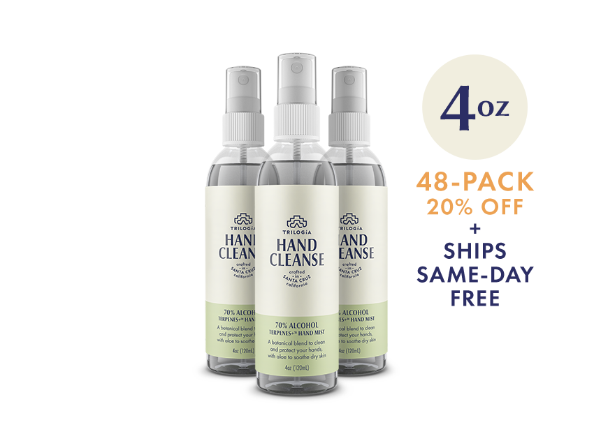 Hand Cleanse Terpenes+™ Spray · 4oz - 48-Pack - Trilogía