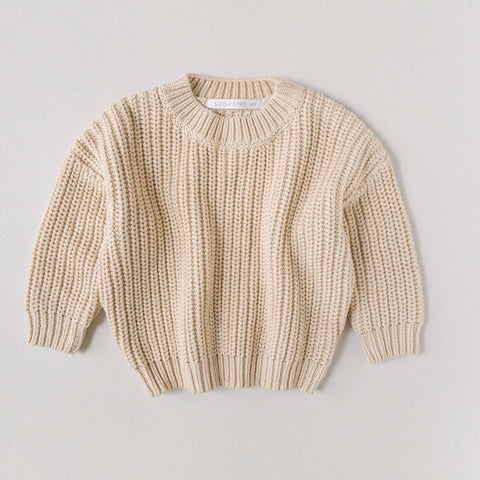 Almond Chunky Sweater