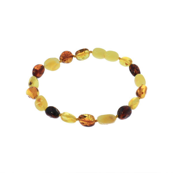 Amber Teething Bracelet - Multi color