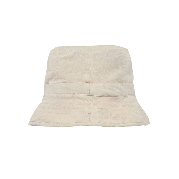 Linen Bucket Hat - Almond