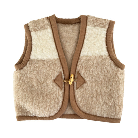 Stay Warm Vest - Beige Duo tone