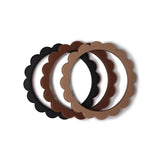 Flower Bracelets - Black/Nat/Caramel