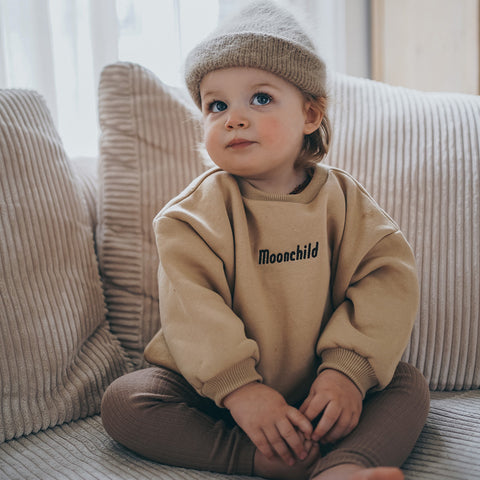 Boxy Sweater Cappuccino - Moonchild