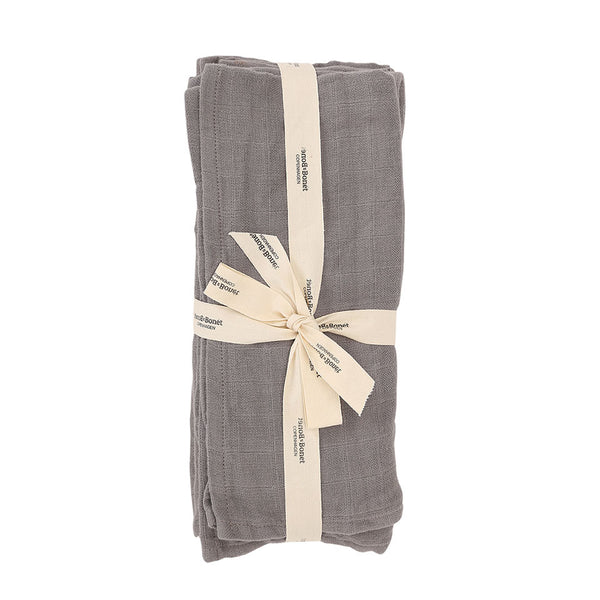 Muslin Set of 4 Stormy Grey