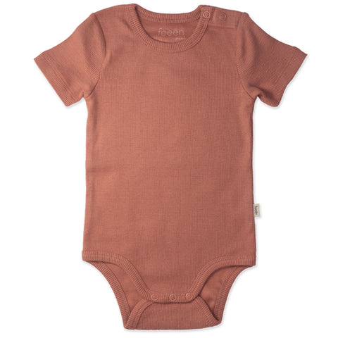 Shortsleeve Romper - Clay