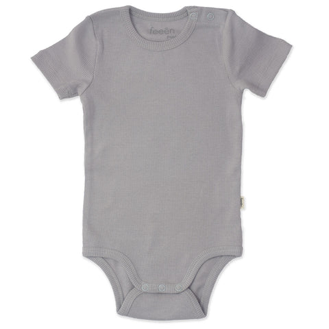 Shortsleeve Romper - Pebble