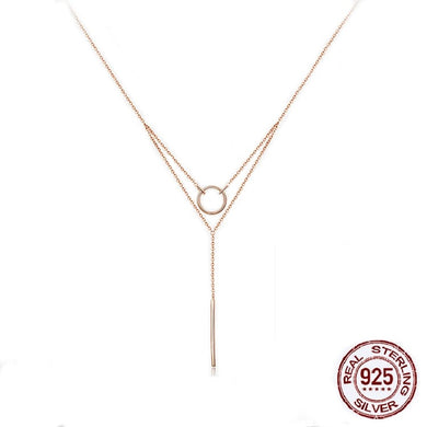 925 Sterling Silver Geometric Choker Necklace for Women