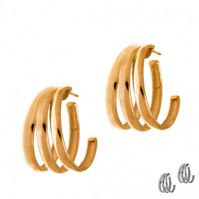 Inner Goddess / Triple Hoop earrings