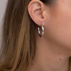 Inner Goddess / Small Bulky Hoop earrings