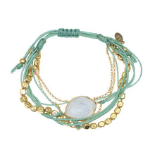 Load image into Gallery viewer, Inner Goddess / Cord and Stone bracelet