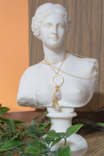 Load image into Gallery viewer, Inner Goddess / Leaf and Stone necklace