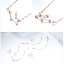 Load image into Gallery viewer, Gemini zodiac constellation necklace