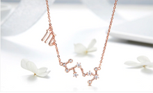 Load image into Gallery viewer, Scorpio zodiac constellation necklace