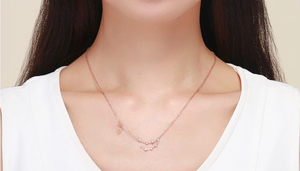 Capricorn zodiac constellation necklace on woman