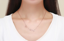 Load image into Gallery viewer, Scorpio zodiac constellation necklace on woman