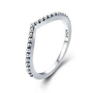 925 Sterling Silver Zirconia Water Droplet Ring for Women