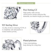 Load image into Gallery viewer, Process of making Silver small hoop earrings with cubic zirconia