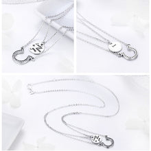 Load image into Gallery viewer, 925 Sterling Silver Zirconia Double Layer Lucky to have you Horseshoe Necklace for Women