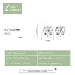 Specifications for Silver earrings with clear cubic zirconia
