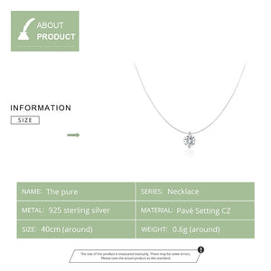 Specifications for Silver necklace with clear cubic zirconia