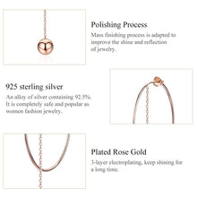Load image into Gallery viewer, BAMOER Popular 100% 925 Sterling Silver Big Circle Round Long Chain Drop Earrings for Women Rock Style Earrings Jewelry SCE569 in-dev