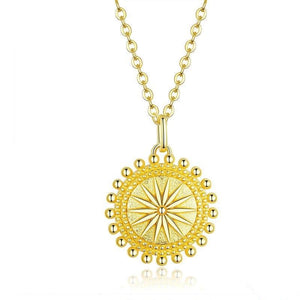 Sun Coin Necklace in gold