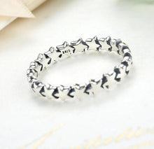 Load image into Gallery viewer, Silver Star Stackable Ring