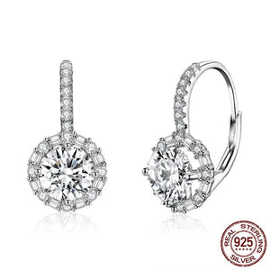 Drop earrings with cubic zircons