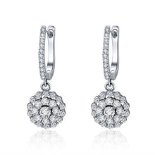 Load image into Gallery viewer, Drop earrings with cubic zircons
