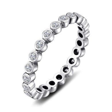 Eternity band Stackable Ring with Cubic Zirconia
