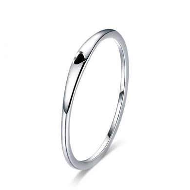 Silver Simple Heart Ring