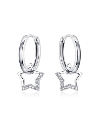 Shining Star Hoop Earrings