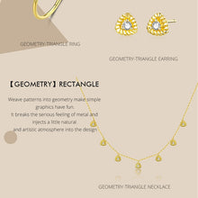 Load image into Gallery viewer, bamoer Gold Color Silver 925 Jewelry New Fashion Triangle Necklae Stud Earringd Ring Jewelry Sets for Women Lady Bijoux ZHS169 in-dev
