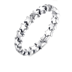 Silver Star Stackable Ring