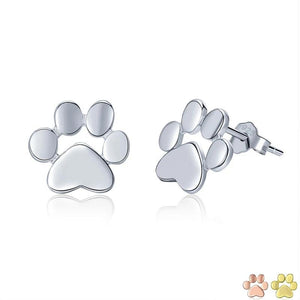 Stud paw earrings in silver and other finish options