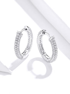 Sparkling Luxury Hoop Earrings