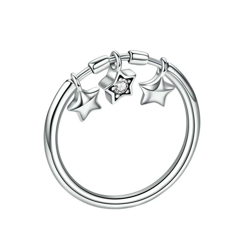 Sparkling Dangle Stars Ring