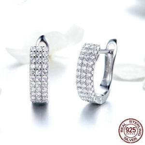 Classic Silver Shining Hoop Earrings in-dev