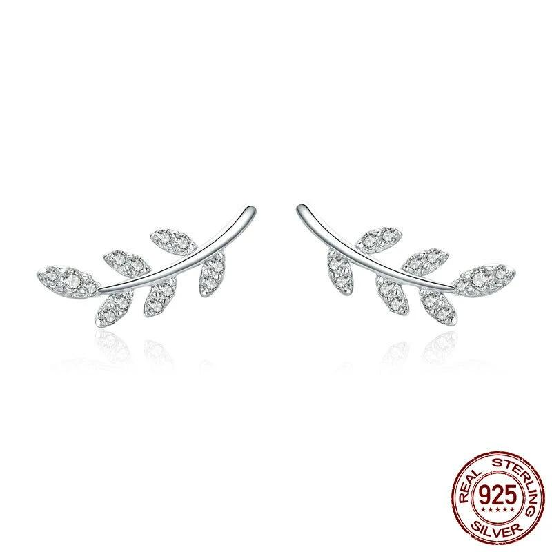 Spring Leaf Stud Earrings