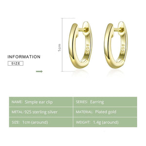 bamoer Tiny Hoop Earrings for Women Gold Color 925 Sterling Silver Small Ear Hoops Female Jewelry Fashion Bijoux Brincos SCE808 IN-DEV