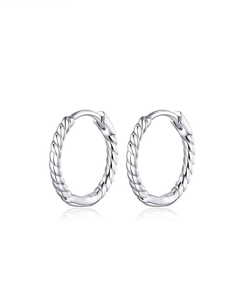 Eternity Weaving Braid Hoop Earrings