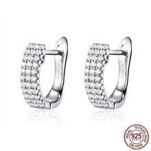 Load image into Gallery viewer, Classic Silver Shining Hoop Earrings in-dev