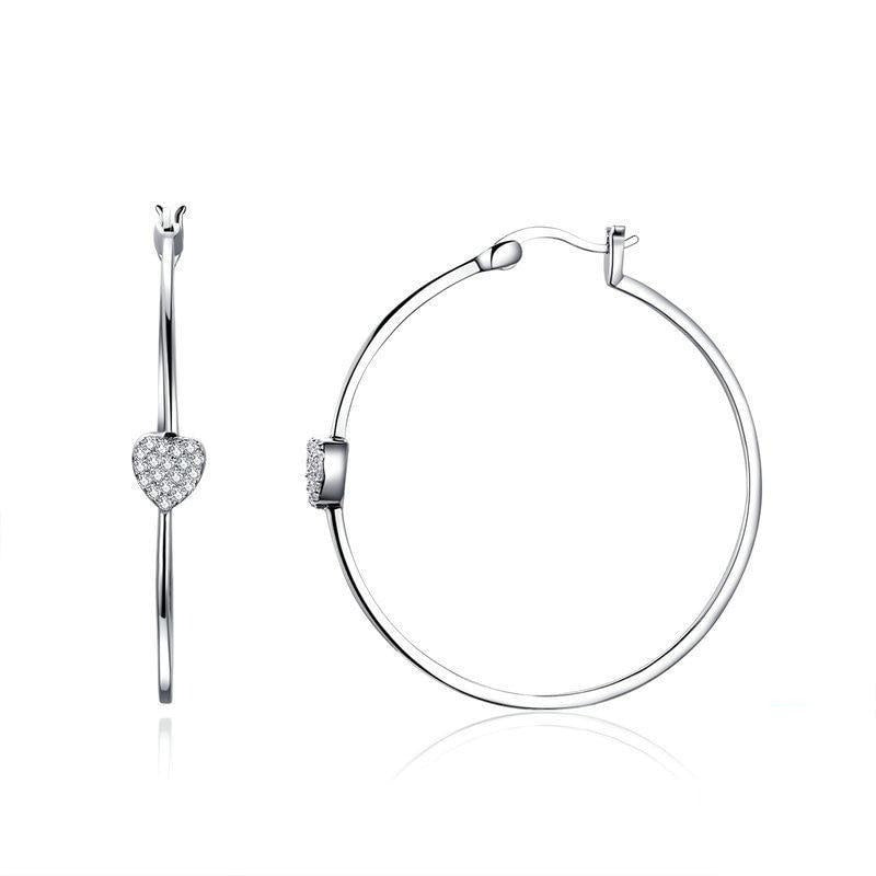 Details of the Heart Hoop earrings