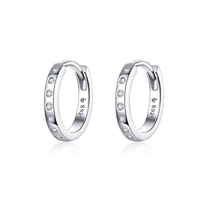 Everyday Sparkle Hoop Earrings